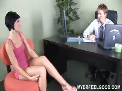 19yo slut Jayden fucks on massage table