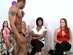 Exciting cock sucking party