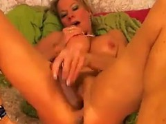 Horny MILF Squirts Using Her Dildo