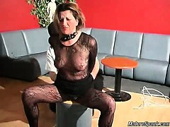 Nasty dude with some black mask is so kinky that he ties