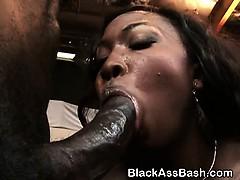 Black Ghetto Slut With Big Bottom Riding On Dick