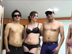 old men and chubby girl ready for orgy