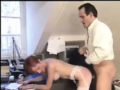 Mature Redhead Banging In The Office
